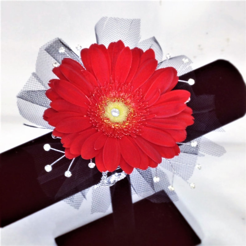 Red Gerbera Corsage