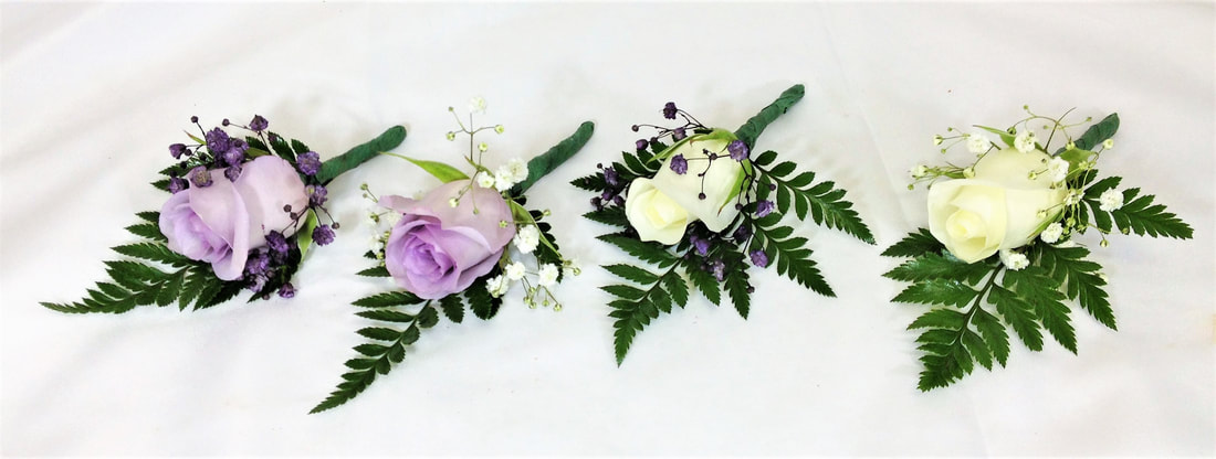 Assorted Rose Boutonnieres