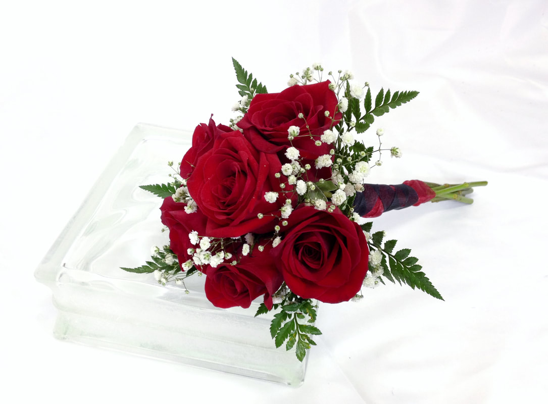 Small Hand Tied Red Rose Bouquet