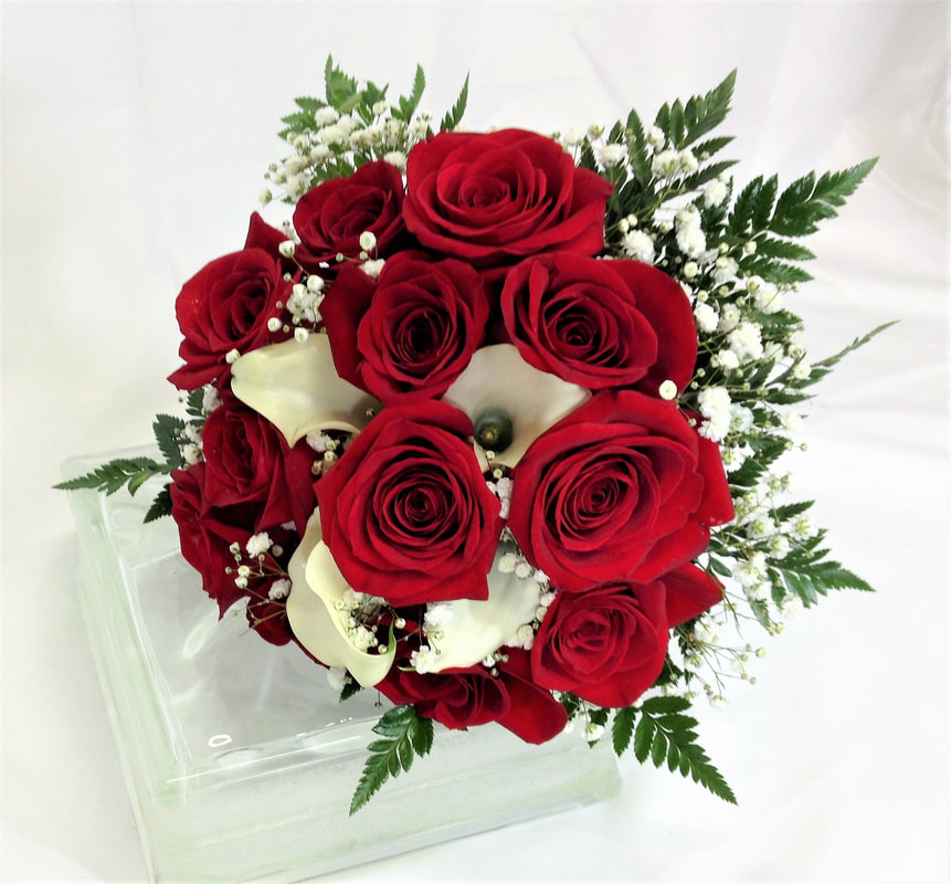 Red Rose & White Calla Bouquet