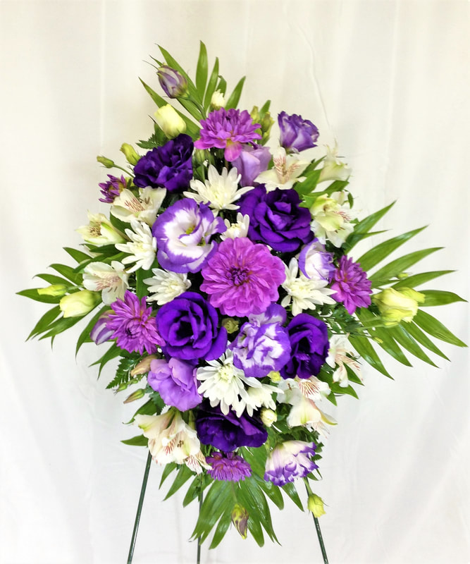 Purple & White Archway Flowers