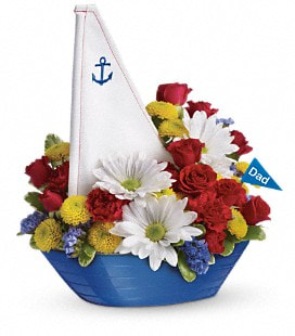 Teleflora's Anchors Aweigh Bouquet - Deluxe