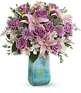Teleflora's Art Glass Treasure Bouquet - Premium