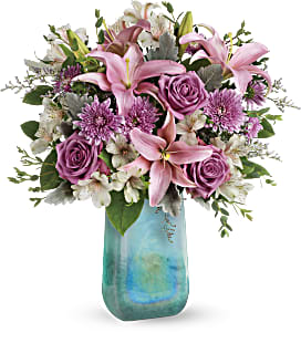 Teleflora's Art Glass Treasure Bouquet - Standard