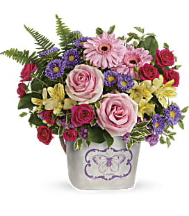 Teleflora's Backyard Butterfly Bouquet - Deluxe
