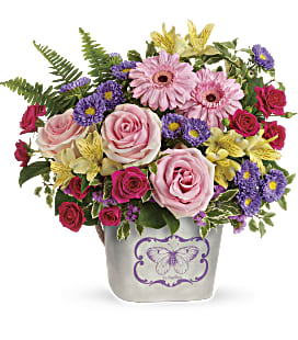 Teleflora's Backyard Butterfly Bouquet - Premium
