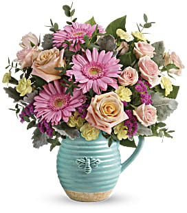 Teleflora's Bee Delighted Bouquet - Deluxe