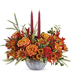 Teleflora's Bountiful Blessings Centerpiece - Deluxe