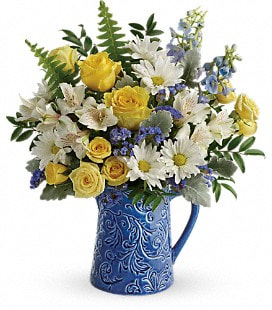 Teleflora's Bright Skies Bouquet - Deluxe