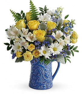 Teleflora's Bright Skies Bouquet - Premium