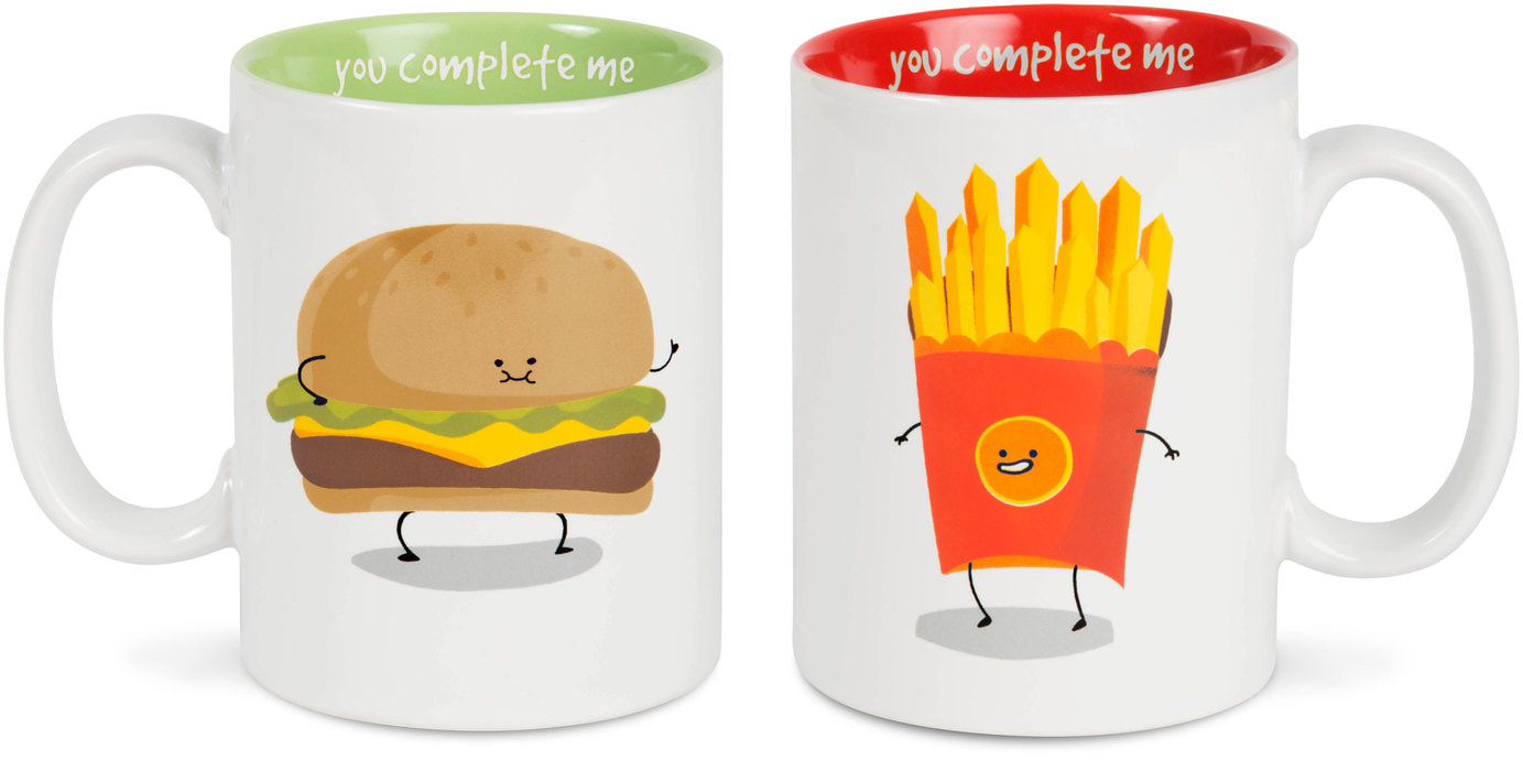 Burger & Fries Mug Set