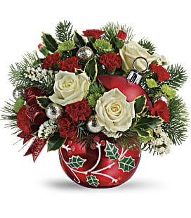 Teleflora's Classic Holly Ornament Bouquet - Standard
