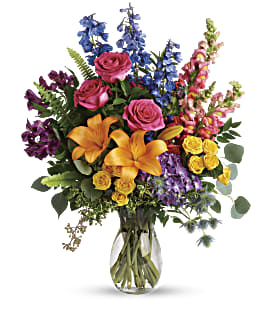 Colors Of The Rainbow Bouquet - Deluxe