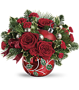 Teleflora's Deck The Holly Ornament Bouquet - Standard