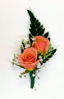 Double Sweetheart Boutonniere