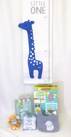 Graci's Beautiful Baby Boy Basket - Standard