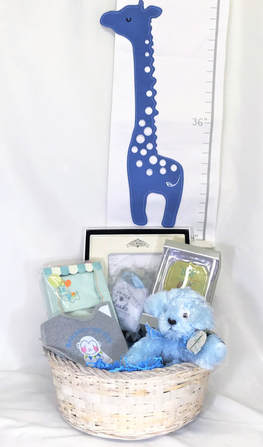 Graci's Beautiful Baby Boy Basket - Premium