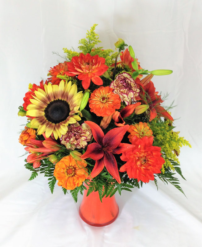 Mixed Autumn Vase