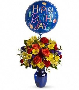 Fly Away Birthday Bouquet - Standard