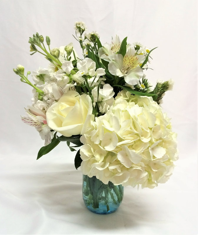 All White Garden Party Bouquet