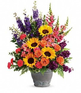 Teleflora's Hues Of Hope Bouquet - Deluxe