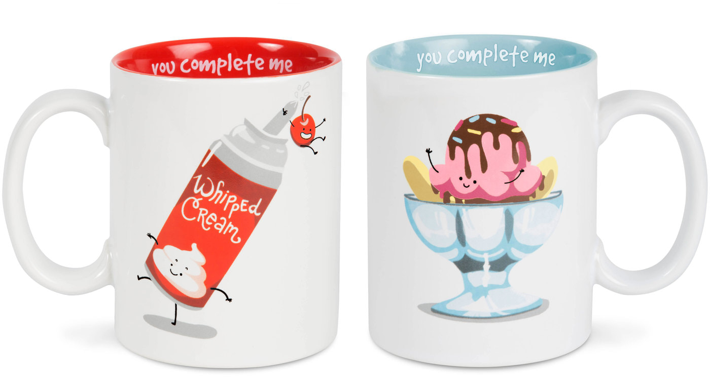 Whipped Cream & Sundae Mug Set