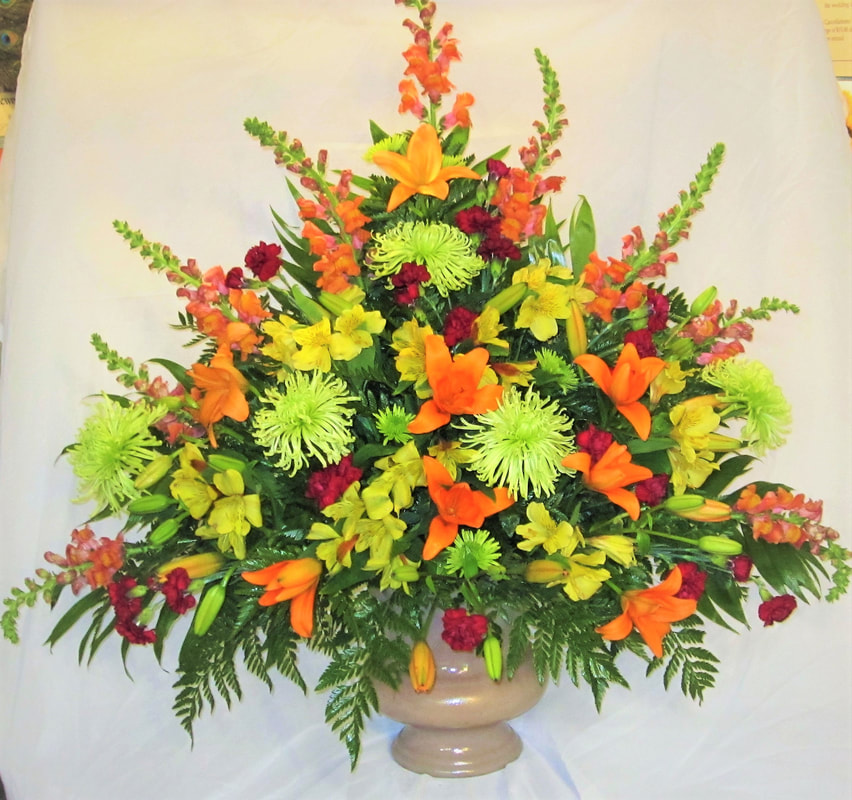 Tropical Colored Funeral Basket