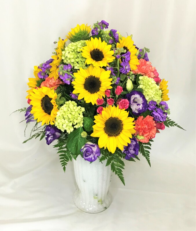 Large Sunflower Vase