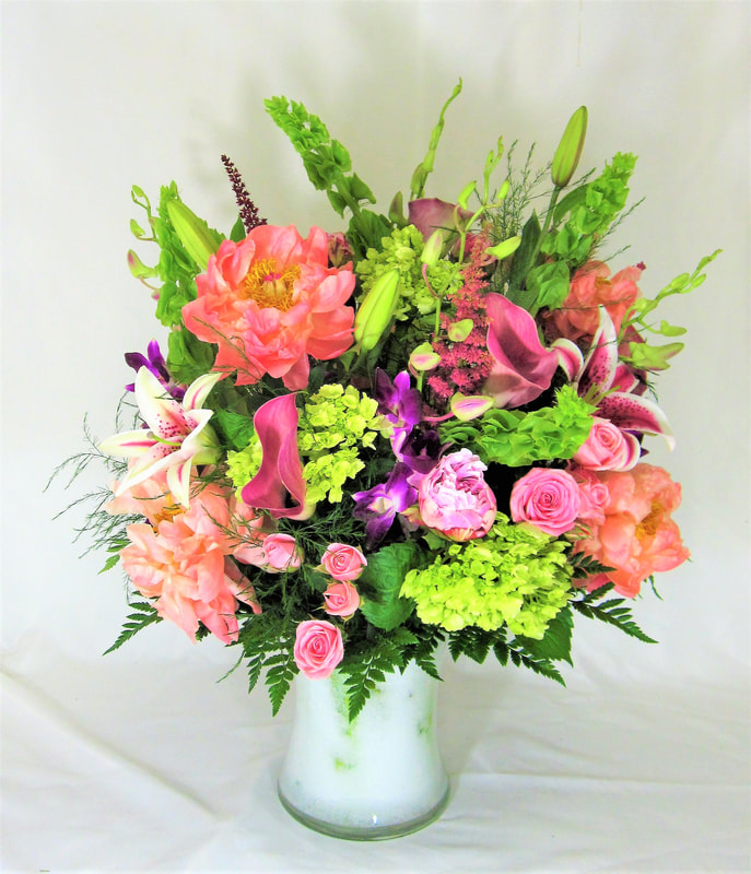 Big Pink & Green Spring Bouquet