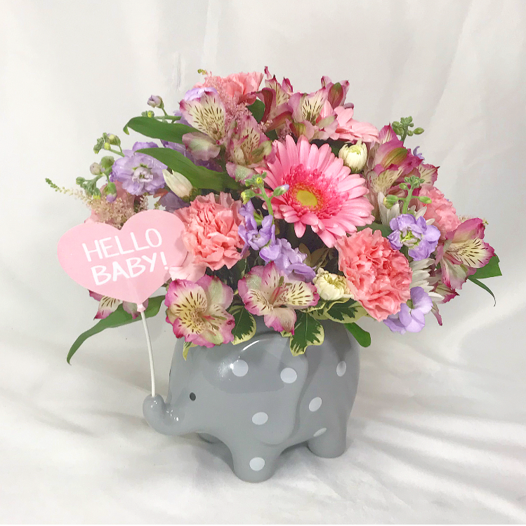 Baby Girl Elephant Bouquet