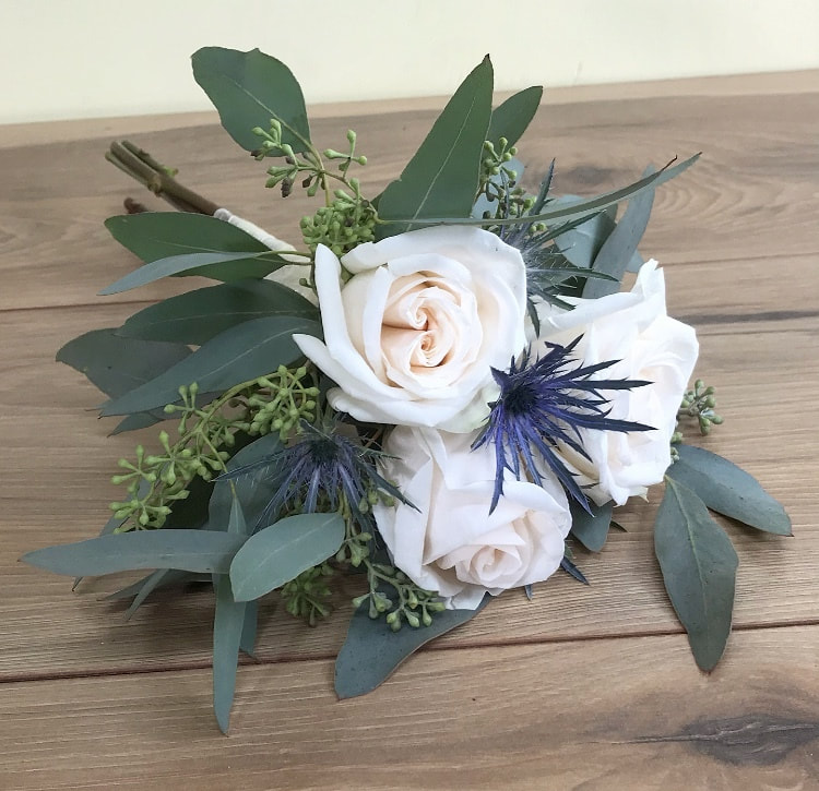 Bridesmaid thistle bouquet