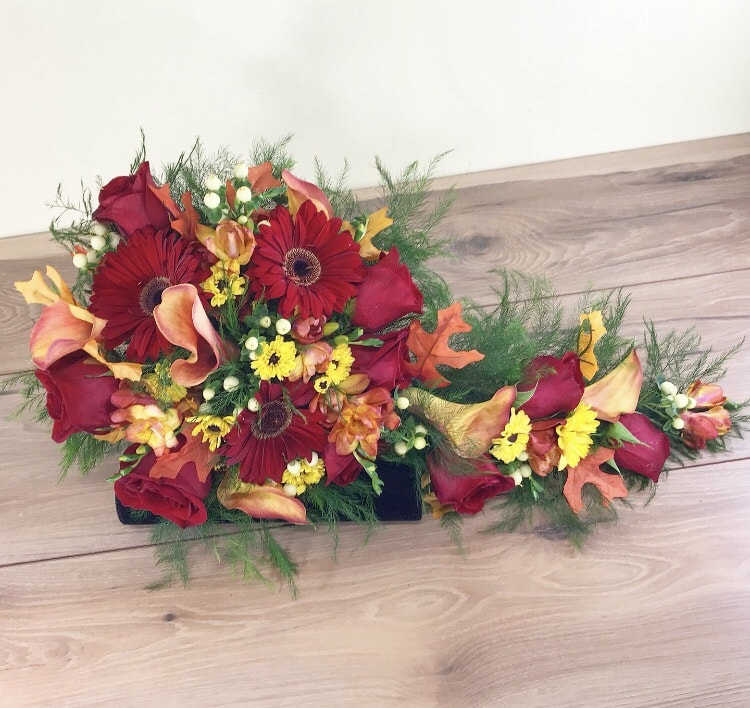 Fall cascade bridal bouquet