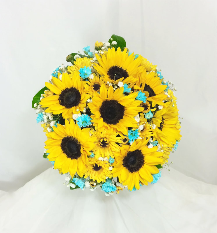 Sunflower & Viking Bridal Bouquet