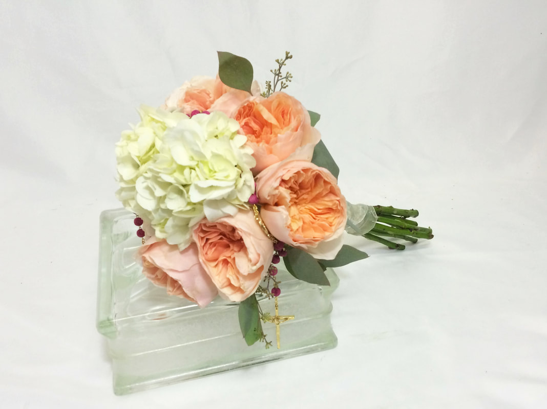 Hydrangea & Garden Rose Bridal Bouquet
