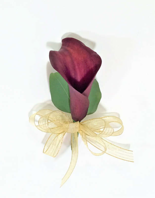 Burgundy Mini Calla Coursage