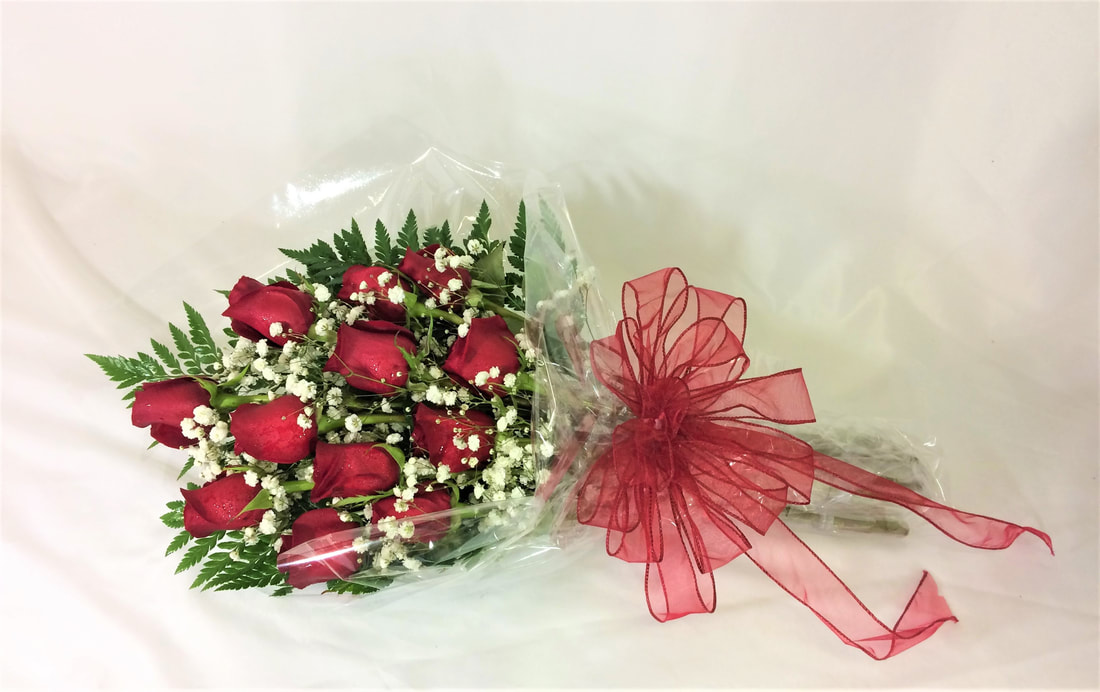 Dozen Rose Presentation Bouquet