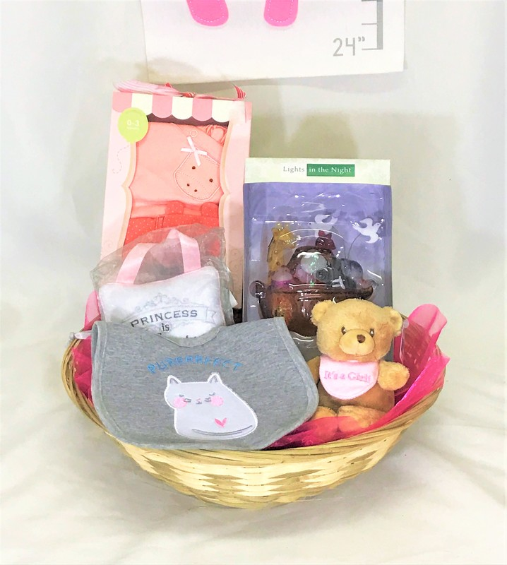 Graci's Beautiful Baby Girl Basket - Deluxe