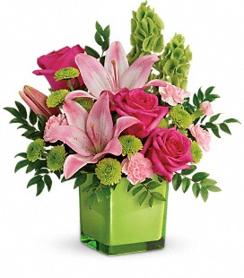 Teleflora's In Love With Lime Bouquet - Standard