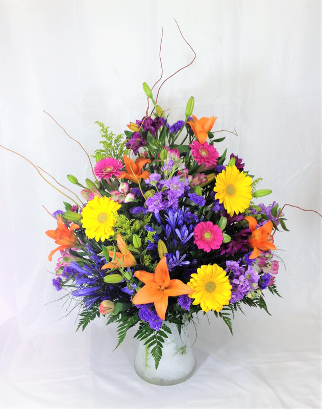 Colorful mixed arrangement