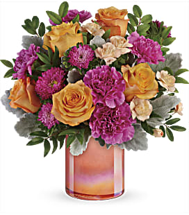 Teleflora's Perfect Spring Peach Bouquet - Deluxe