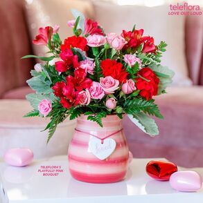Playfully Pink Bouquet - Deluxe