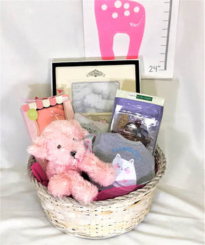 Graci's Beautiful Baby Girl Basket - Premium