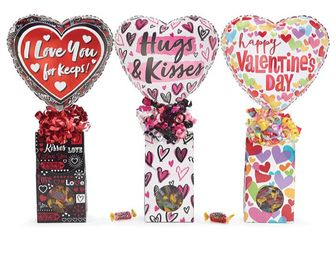 Valentine's Day Candy Gift Box with Balloon
