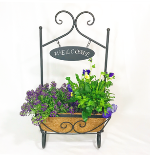 Welcome Spring Plant Basket