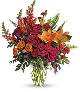 Punch Of Color Bouquet - Deluxe