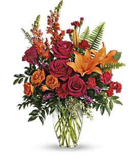 Punch Of Color Bouquet - Standard