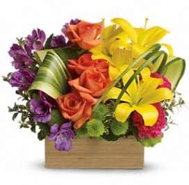 Teleflora's Shades Of Brilliance Bouquet - Deluxe