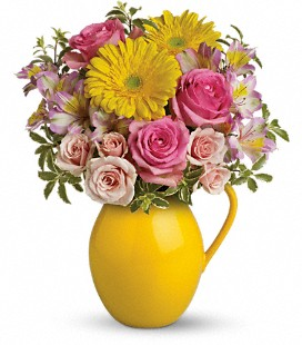 Teleflora's Sunny Day Pitcher Of Charm - Standard