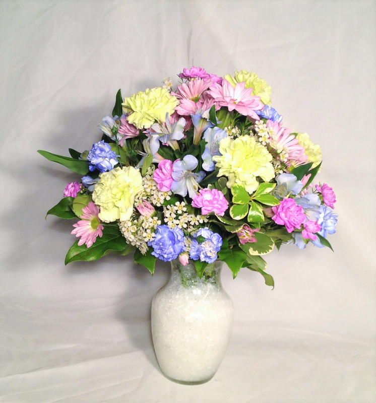 Pastel Blue/Green/Lav Bouquet