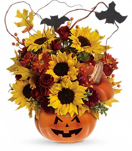 Teleflora's Trick & Treat Bouquet - Deluxe
